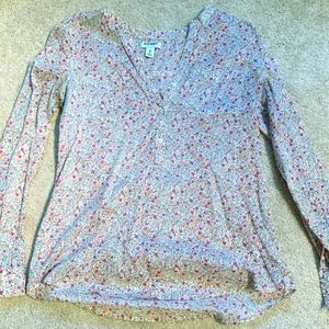 Floral long sleeve blouse Old Navy S
